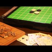 【館内の様子】みんなで楽しめるテーブルゲームがあります