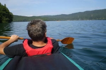 青木湖カヤック体験