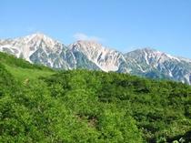 絶景の白馬三山