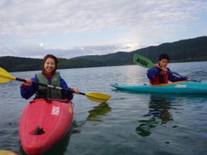 青木湖カヤックプラン