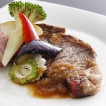国産牛のステーキ/例
