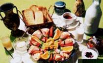 朝食の一例、4人分です。
