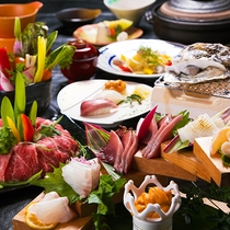 【島三昧会席】壱岐の食材をふんだんに取り入れた会席
