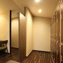 岩盤浴・サウナの更衣室