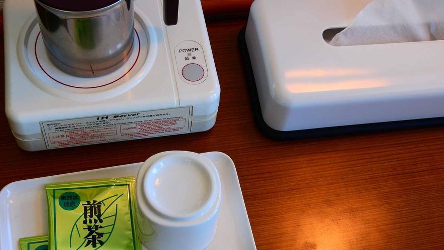 *ポット&お茶 各お部屋にはお茶とポットをご用意しております。