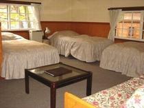 213号室3ベッドバス・トイレ付(ソファーベッドで4名)