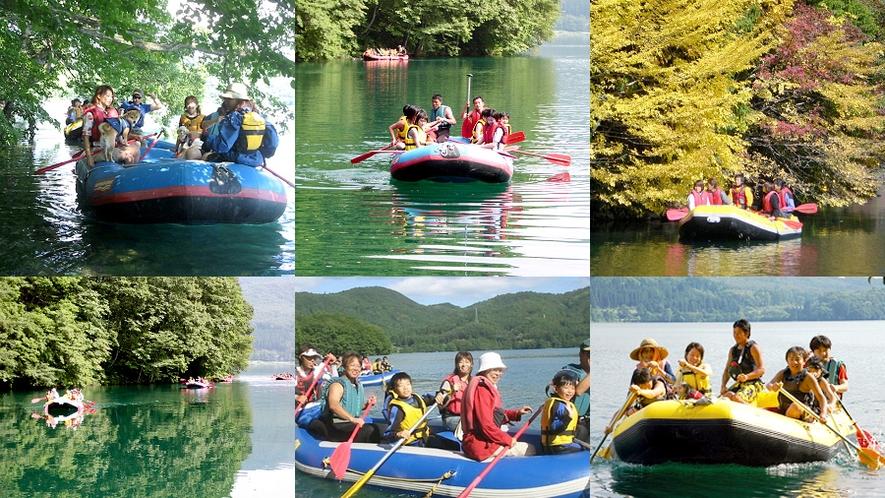 【青木湖ラフトピクニック】とても綺麗な湖です