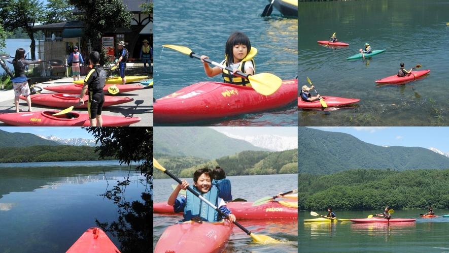 【青木湖カヌー・カヤック】鏡の様な青木湖をスイスイ