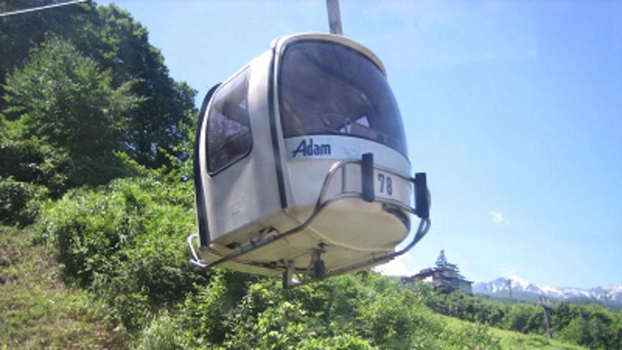 八方尾根ゴンドラ「アダム」通年営業のゴンドラから見る景色は最高!
