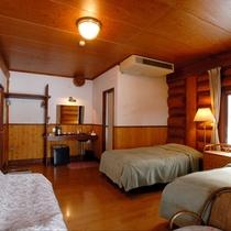【新館ログホテル】1階ツインルーム一例