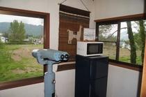 2階の無料観光望遠鏡