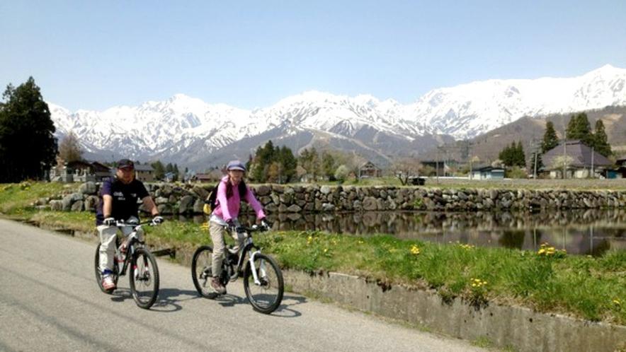 【サイクリング】景色抜群の白馬で気持ちの良いサイクリングを