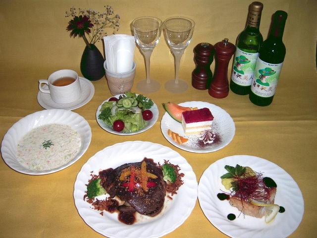 アザミ夕食