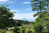 富士見高原から見た富士山