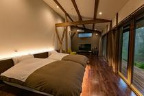 コテージのベッドスペース
