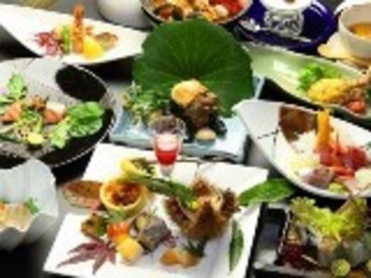 【美食&半露天風呂付】〜24時間いつでも入れる陶器風呂つき旬菜、遊食プラン〜