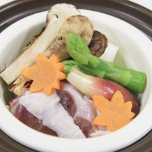 松茸と栃木しゃもの萬来蒸鍋