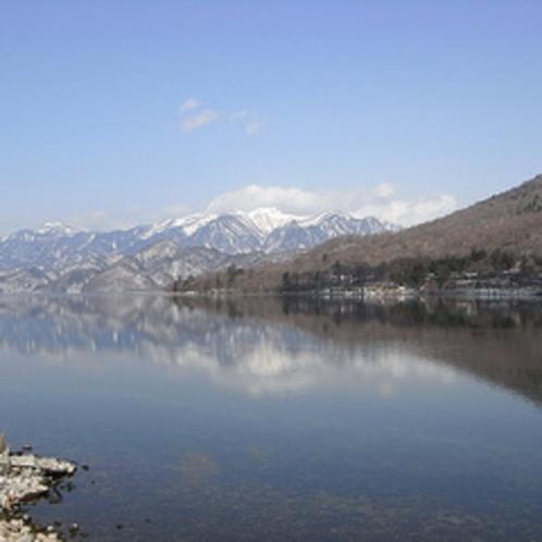 中禅寺湖。ボート遊びた釣りなどをお楽しみいただけます