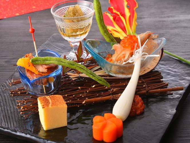 前菜一例 季節の食材を使った約7種類の前菜