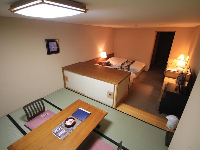 一般和洋室32㎡(6畳の和室部分とツインベッド)