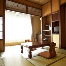 【Sタイプルーム】コンパクトな10畳の広さ 改装され、シンプルで落ち着いた雰囲気です