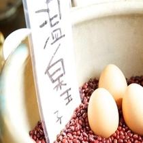 朝食の温泉卵♪新鮮な卵で仕込みます