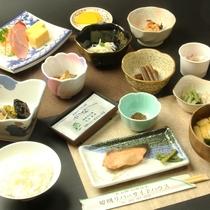 ☆朝食は小鉢の山の幸の料理がメイン(一例です)