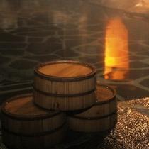 ☆露天風呂で夜の風を感じながらの入浴