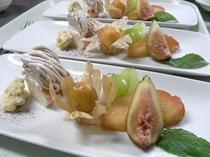 夕食例 秋デザート