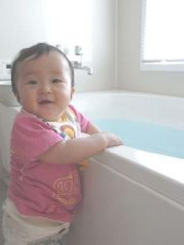 展望風呂と赤ちゃん