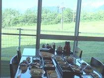 夏期朝食の眺め