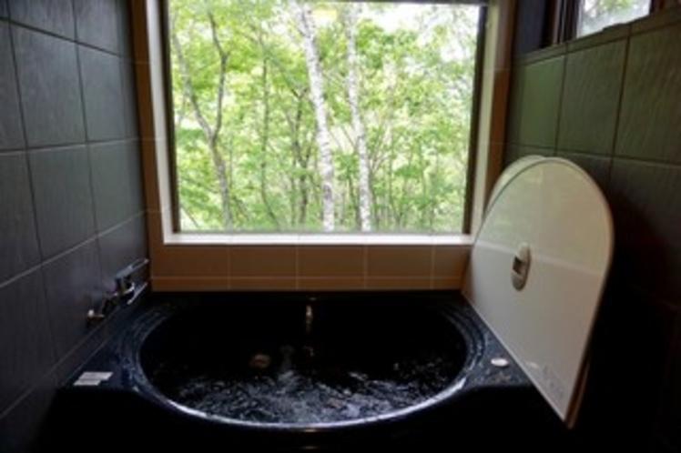 森の中の風呂