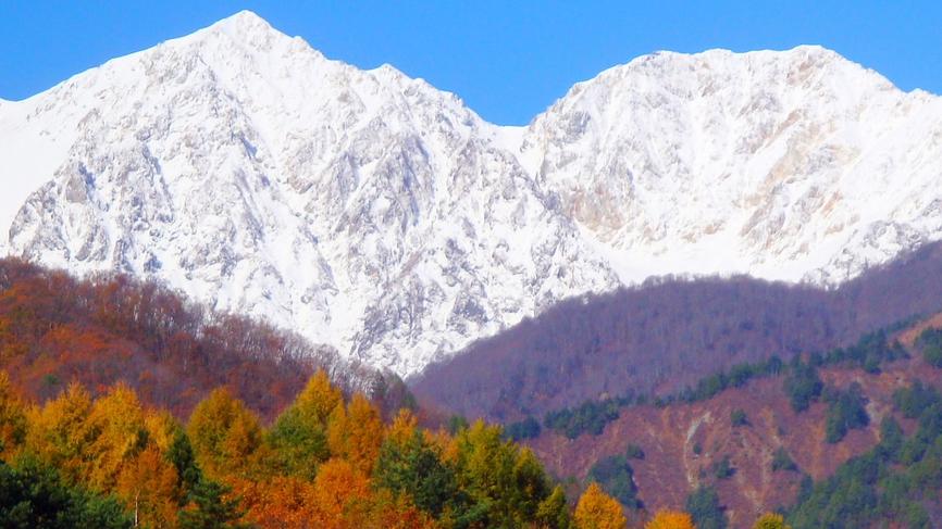 *[白馬の景色・秋]北アルプスの絶景、三段紅葉は必見です