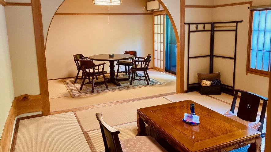 花の弐番客室 和室16畳+10畳ベットルーム+ウッドデッキ