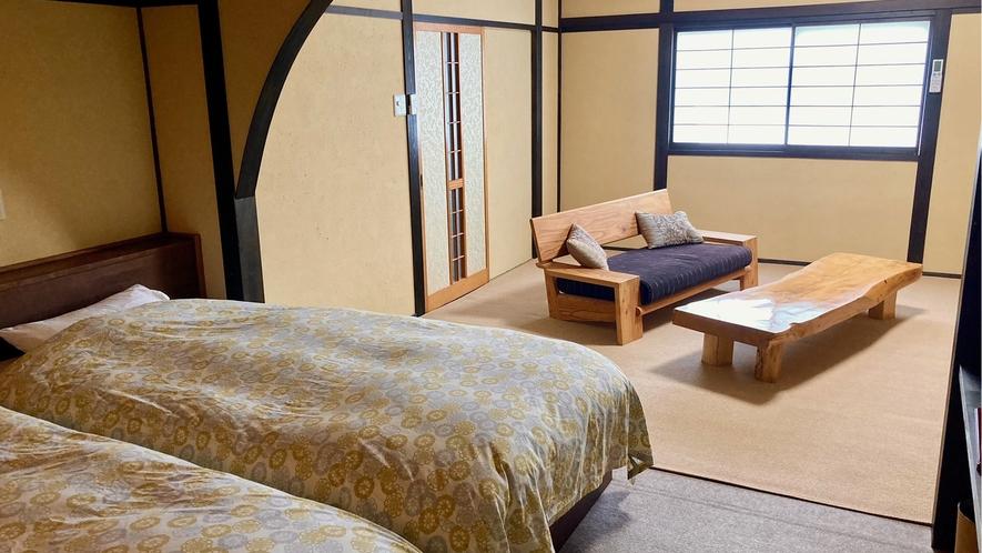 花の壱番客室 ベットルーム