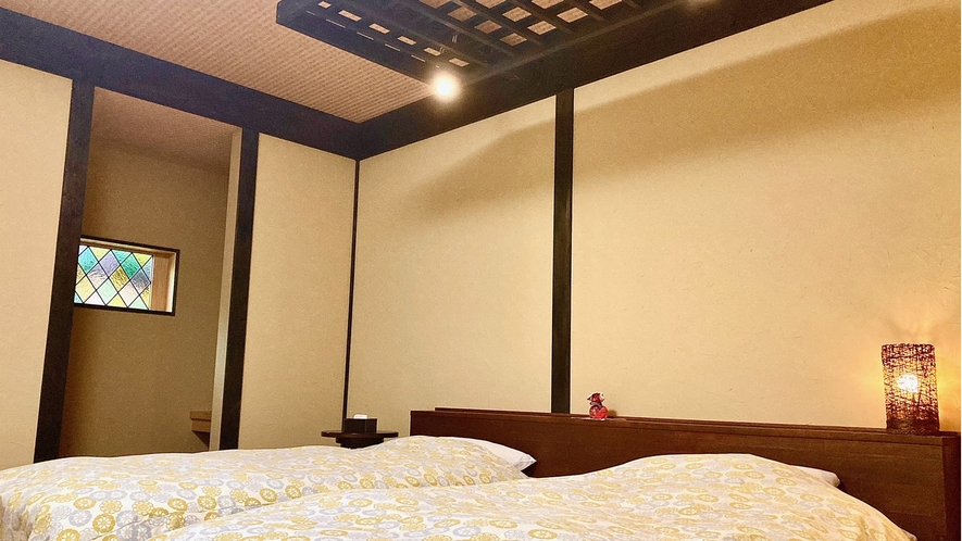 花の弐番客室 ベットルーム