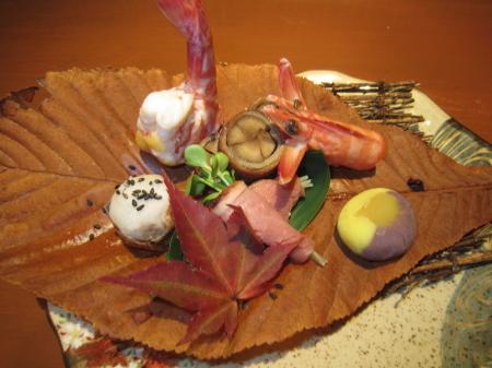 秋の前菜・1例