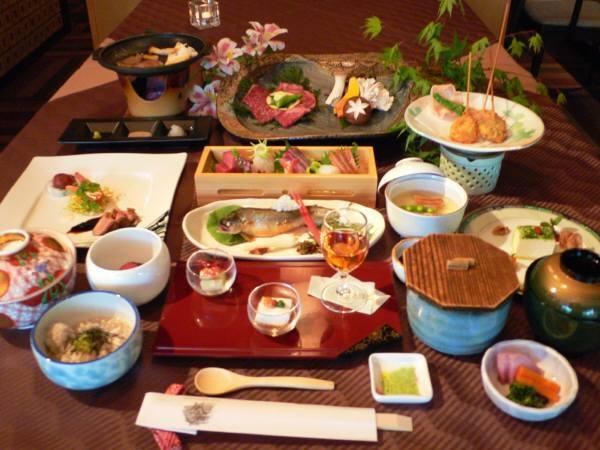 上州牛と鮎のお料理