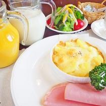 *【朝食例】美味しい朝ごはんに思わずにっこり♪