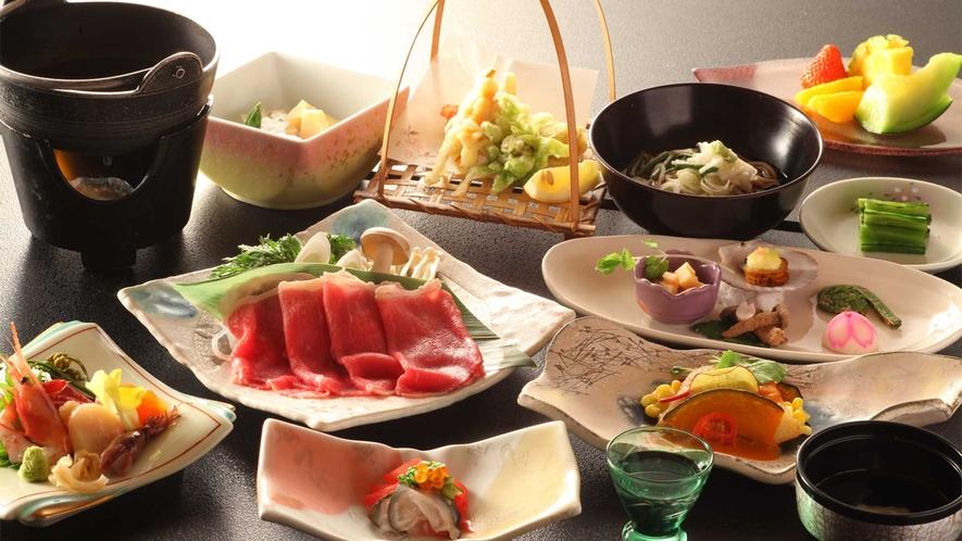 信州の食材を使ったお料理をご堪能ください。