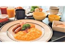 朝食プレート提供イメージ
