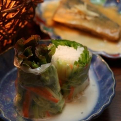 夕食(生春巻き)