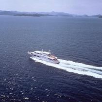宮島行高速船(イメージ)ホテル前桟橋より約26分で到着!