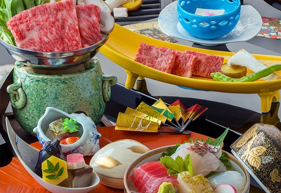 【神戸牛会席/夕部屋食】 ブランド牛を堪能!鉄板焼きなど極上和牛の贅沢2品と会席料理