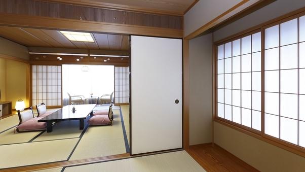 【二間付/和室】 川側12.5畳+次の間4.5畳
