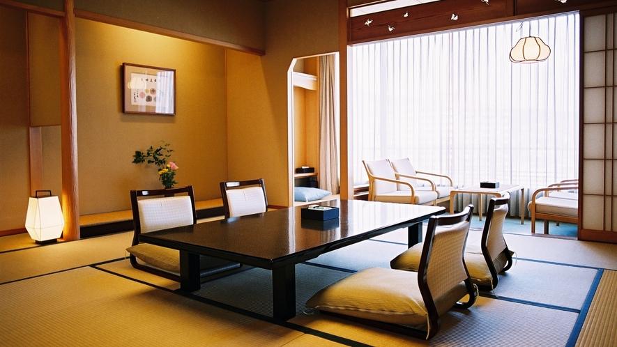 【二間付和洋室】川側12.5畳+ツインルーム24平米