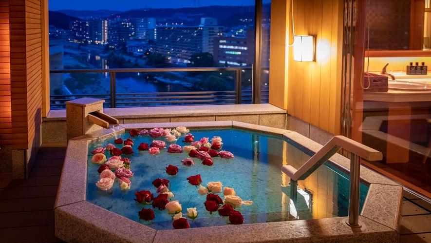 【露天風呂付和モダンスイート】最上階64平米◆禁煙 NEW(バラ風呂はオプションです)