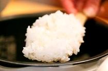 お米にこだわった、炊きたてゴハンが自慢です