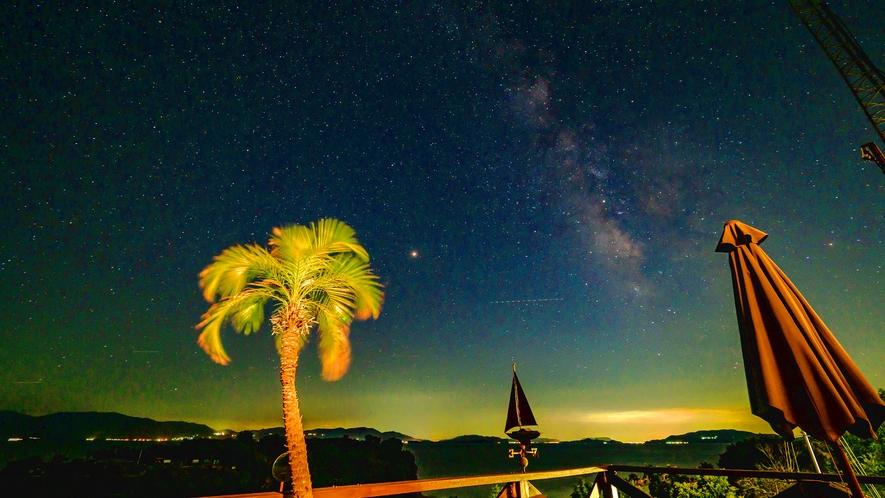 ・デッキから眺める星空