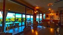 ・海を眺める食堂です
